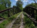První skrytý most přes Chrudimku u Pardubiček.
