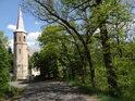 Kostel sv. Jakuba Většího v Práčově se nachází nad vyrovnávací nádrží Křižanovice II.